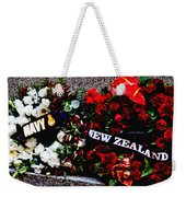 Wreaths From New Zealand And Our Navy Weekender Tote Bag