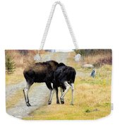 Amorous Moose Wrestling Weekender Tote Bag