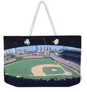 Wrigley Field, Chicago, Cubs V Weekender Tote Bag