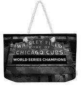 Wrigley Field Sign -- Bw Weekender Tote Bag