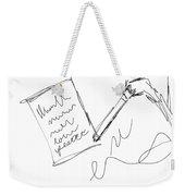 Write Weekender Tote Bag