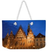 Wroclaw Old Town Hall At Night Weekender Tote Bag