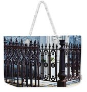 Wrought Iron Cemetery Fence Weekender Tote Bag