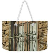 Wrought Iron - Glass - Stone Weekender Tote Bag