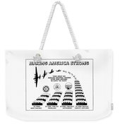 Ww2 Airplane Supply Cartoon  Weekender Tote Bag