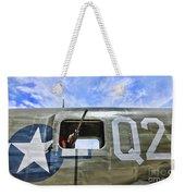 Wwii Aircraft Gun Window Weekender Tote Bag
