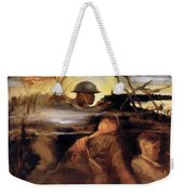 Wwii: Color Line Poster Weekender Tote Bag