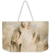 Wwii Tour Of Duty Pin-up Woman Weekender Tote Bag