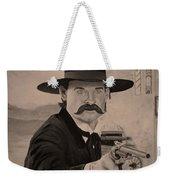 Wyatt Earp - Kurt Russell B And W Weekender Tote Bag