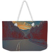 Wynding Road In Between Trees Weekender Tote Bag