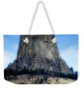 Wyoming Devils Tower With 8 Climbers August 7th 12 36pm 2016 With Inserts Weekender Tote Bag