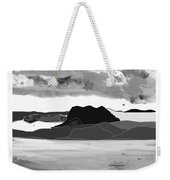 Wyoming Landscape 3 - B-w Weekender Tote Bag