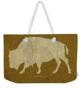 Wyoming State Facts Minimalist Movie Poster Art Weekender Tote Bag