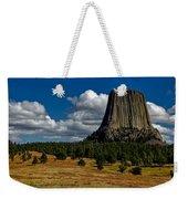 Wyoming's Devil's Tower Weekender Tote Bag