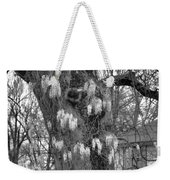 Wysteria Tree In Black And White Weekender Tote Bag