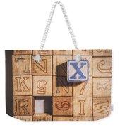X Blocks Weekender Tote Bag