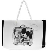 X-ray Of Suitcase Weekender Tote Bag by Science Source