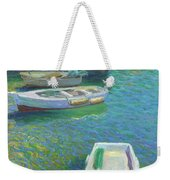 Xabia Harbour With Fishing Boats Weekender Tote Bag