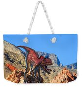 Xuanhanosarus In The Desert Weekender Tote Bag