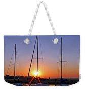 Yacht Club Sunrise Weekender Tote Bag