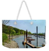 Yacht Harbor On The River. Film Effect Weekender Tote Bag