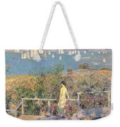 Yachts In Gloucester Harbor Weekender Tote Bag by Childe Hassam