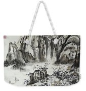 Yangze River With Water Fall Weekender Tote Bag