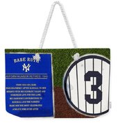 Yankee Legends Number 3 Weekender Tote Bag