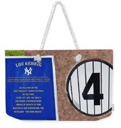 Yankee Legends Number 4 Weekender Tote Bag