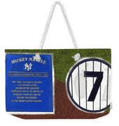 Yankee Legends Number 7 Weekender Tote Bag