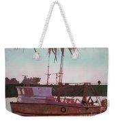 Yankee Town  Fishing Boat Weekender Tote Bag