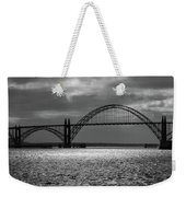 Yaquina Bay Bridge Black And White Weekender Tote Bag