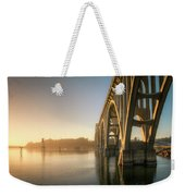 Yaquina Bay Bridge - Golden Light 0634 Weekender Tote Bag