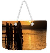 Yaquina Bay Sunset - Vertical Weekender Tote Bag