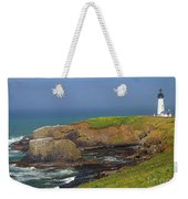 Yaquina Head Lighthouse And Bay Weekender Tote Bag