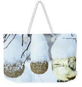 Yarn In The Snow Weekender Tote Bag