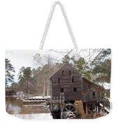 Yates Mill In Winter Weekender Tote Bag