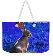 Year Of The Rabbit 2011 . Square Blue Weekender Tote Bag