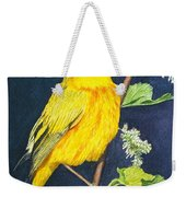 Yelllow Warbler Weekender Tote Bag