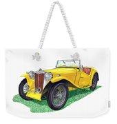 Yellow 1949 M G T C Midget Weekender Tote Bag