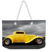 Yellow 32 Ford Deuce Coupe Weekender Tote Bag