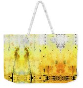 Yellow Abstract Art - Good Vibrations - By Sharon Cummings Weekender Tote Bag