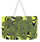 Yellow And Black #3 Abstract Weekender Tote Bag