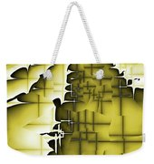 Yellow And Black 3 Weekender Tote Bag