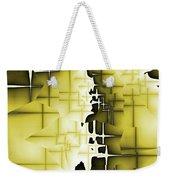 Yellow And Black 4 Weekender Tote Bag