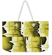 Yellow And Black 6 Weekender Tote Bag