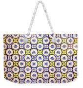 Yellow And Blue Circle Tile Weekender Tote Bag