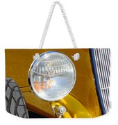 Yellow And Blue Hot Rod Headlight Weekender Tote Bag