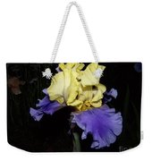 Yellow And Blue Iris Weekender Tote Bag