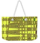 Yellow And Brown Lines Weekender Tote Bag